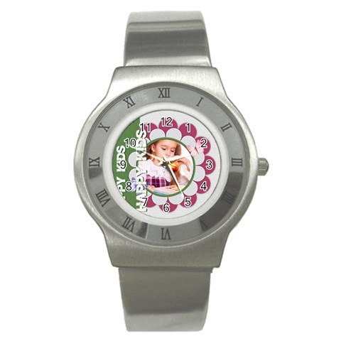 Happy Kids By Joely   Stainless Steel Watch   K9doqfqb5csf   Www Artscow Com Front