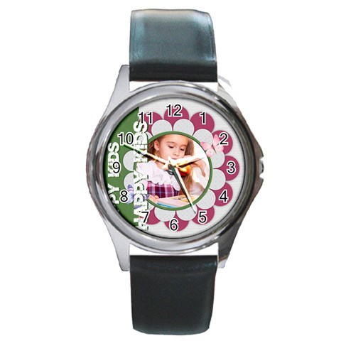 Happy Kids By Joely   Round Metal Watch   Vr2544x7epgc   Www Artscow Com Front