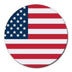 Flag 8  Mouse Pad (round) by tammystotesandtreasures