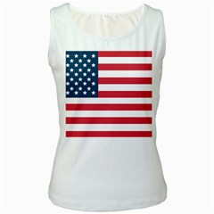 Flag White Womens  Tank Top by tammystotesandtreasures