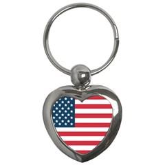 Flag Key Chain (heart) by tammystotesandtreasures