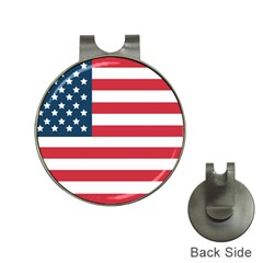 Flag Hat Clip With Golf Ball Marker by tammystotesandtreasures