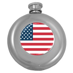 Flag Hip Flask (round) by tammystotesandtreasures