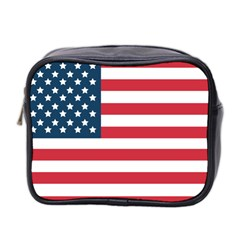 Flag Twin Sided Cosmetic Case by tammystotesandtreasures