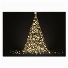 Christmas Tree Sparkle Jpg Single Sided Handkerchief by tammystotesandtreasures