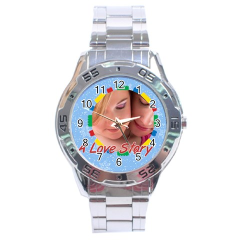 A Love Story By May   Stainless Steel Analogue Watch   M1yvvx13ar8h   Www Artscow Com Front