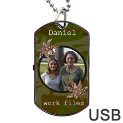 Camoflauge Dog Tag Usb Flash (2 Sides) By Kim Blair   Dog Tag Usb Flash (two Sides)   Qggopbs9i0wb   Www Artscow Com Back