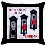 regards pillow - Throw Pillow Case (Black)