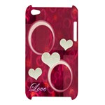 Love Pink Apple Ipod Touch 4g Case - Apple iPod Touch 4G Hardshell Case