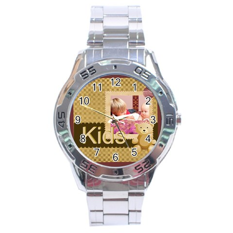 Kids By Joely   Stainless Steel Analogue Watch   6zkmpiupjgru   Www Artscow Com Front