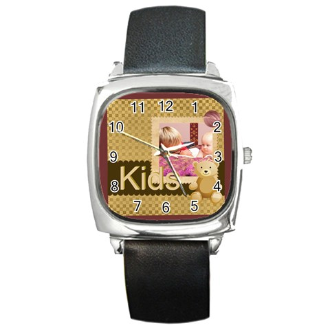 Kids By Joely   Square Metal Watch   V77kqi2xjj9b   Www Artscow Com Front