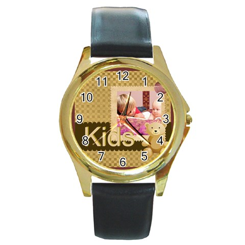 Kids By Joely   Round Gold Metal Watch   Qcmughv2ptga   Www Artscow Com Front