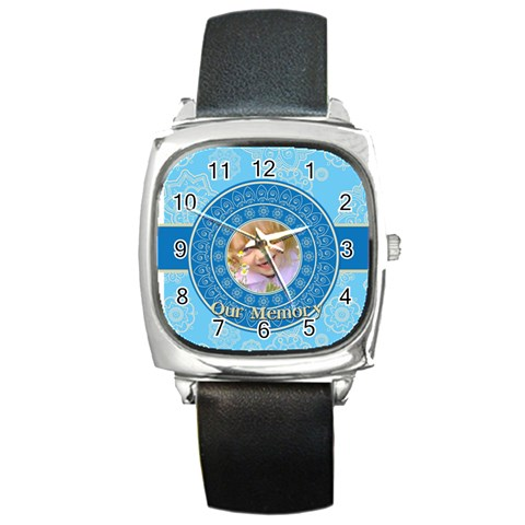 Memory By Divad Brown   Square Metal Watch   Alxv5tr7mxze   Www Artscow Com Front