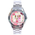 pink world - Stainless Steel Analogue Watch