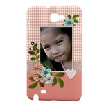 Samsung Galaxy Note Hardshell Case- Lace and Flowers 2 - Samsung Galaxy Note 1 Hardshell Case