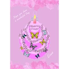 Butterfly Birthday By Kim Blair   Birthday Cake 3d Greeting Card (7x5)   K9qdxb673c9l   Www Artscow Com Inside