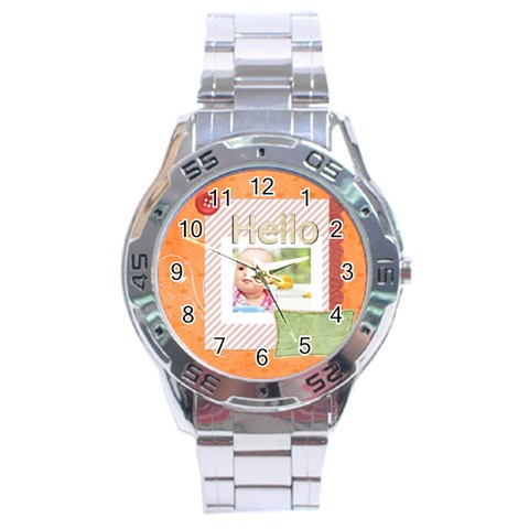 Hello By Joely   Stainless Steel Analogue Watch   1fpa4es9e3hw   Www Artscow Com Front