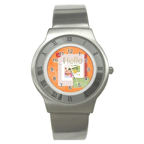 Hello By Joely   Stainless Steel Watch   Oxl93juudahb   Www Artscow Com Front