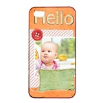 hello - Apple iPhone 4/4s Seamless Case (Black)