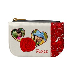 Rose By Divad Brown   Mini Coin Purse   Vn446imfaj4g   Www Artscow Com Front