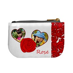 Rose By Divad Brown   Mini Coin Purse   Vn446imfaj4g   Www Artscow Com Back
