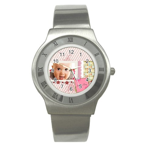 Sweet Day By Joely   Stainless Steel Watch   883az5jtwe8x   Www Artscow Com Front