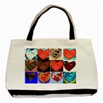 tote bag hearts1 - Basic Tote Bag