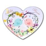 Love birds mousepad - Heart Mousepad