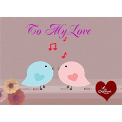 To My Love By Kim Blair   Circle Bottom 3d Greeting Card (7x5)   Qkfvv0jnaxih   Www Artscow Com Front