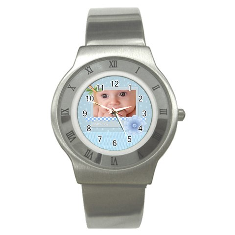Baby Boy By Joely   Stainless Steel Watch   A39ylk77oy9q   Www Artscow Com Front