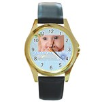 baby boy - Round Gold Metal Watch