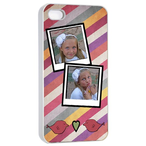 Iphone 4 Case White By Amanda Bunn   Apple Iphone 4/4s Seamless Case (white)   Darpka1trola   Www Artscow Com Front