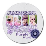 purple world - Round Mousepad