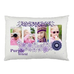 Purple Flower By Shaindy   Pillow Case (two Sides)   70fr2o2quc39   Www Artscow Com Front