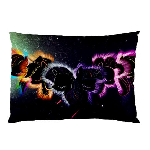 Mane 6 Nebula Pillow Case By Dylan Noonan   Pillow Case   A5dbotp1y55w   Www Artscow Com 26.62 x18.9 Pillow Case