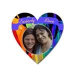 Color Splash heart Magnet - Magnet (Heart)