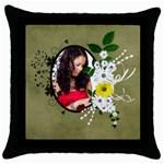 Willow - Throw Pillow Case  - Throw Pillow Case (Black)
