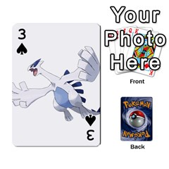 Pokemon By Cheesedork   Playing Cards 54 Designs   Rqeon3f3tcgo   Www Artscow Com Front - Spade3