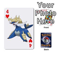 Pokemon By Cheesedork   Playing Cards 54 Designs   Rqeon3f3tcgo   Www Artscow Com Front - Heart4