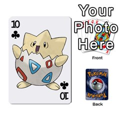 Pokemon By Cheesedork   Playing Cards 54 Designs   Rqeon3f3tcgo   Www Artscow Com Front - Club10