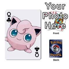 Queen Pokemon By Cheesedork   Playing Cards 54 Designs   Rqeon3f3tcgo   Www Artscow Com Front - ClubQ