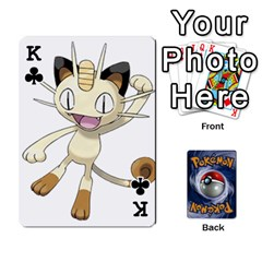 King Pokemon By Cheesedork   Playing Cards 54 Designs   Rqeon3f3tcgo   Www Artscow Com Front - ClubK