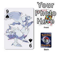 Pokemon By Cheesedork   Playing Cards 54 Designs   Rqeon3f3tcgo   Www Artscow Com Front - Spade9