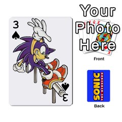 Sonic By Cheesedork   Playing Cards 54 Designs   3d234280gtve   Www Artscow Com Front - Spade3