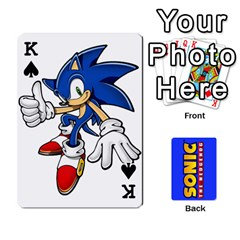 King Sonic By Cheesedork   Playing Cards 54 Designs   3d234280gtve   Www Artscow Com Front - SpadeK