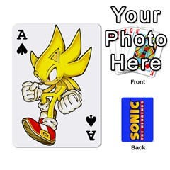Ace Sonic By Cheesedork   Playing Cards 54 Designs   3d234280gtve   Www Artscow Com Front - SpadeA