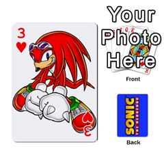 Sonic By Cheesedork   Playing Cards 54 Designs   3d234280gtve   Www Artscow Com Front - Heart3