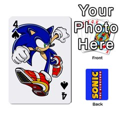 Sonic By Cheesedork   Playing Cards 54 Designs   3d234280gtve   Www Artscow Com Front - Spade4