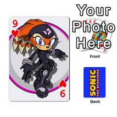 Sonic By Cheesedork   Playing Cards 54 Designs   3d234280gtve   Www Artscow Com Front - Heart9