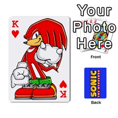 King Sonic By Cheesedork   Playing Cards 54 Designs   3d234280gtve   Www Artscow Com Front - HeartK